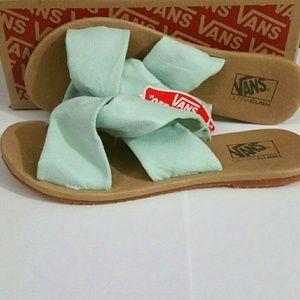 a7a87ca638d690 Vans Shoes - 🆕Vans Ayla Slide Suede Bay Women s Slim Sandals 7